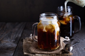Iced coffee with your choice of non dairy milk