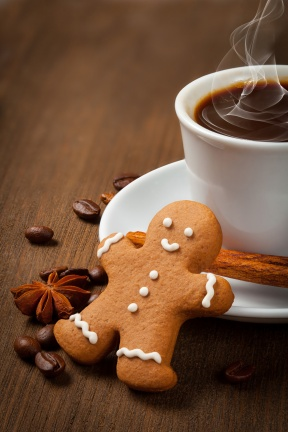 Ginger Bread Latte made with Real Organic Spices and Molasses
