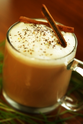 Chai Latte. Brewed in house made with Real Organic Spices