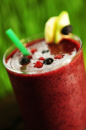 The Original Smoothie -Banana, Apple, Blueberry and Raspberry