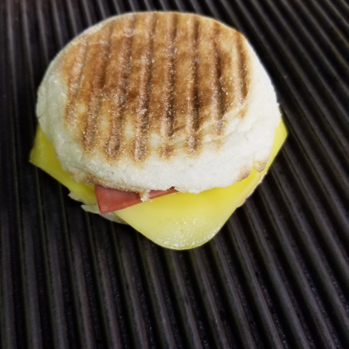 Breaky Sandwich hot off the Grill